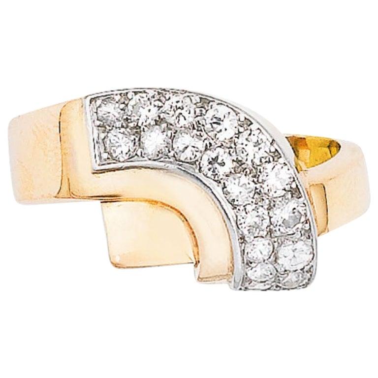Van Cleef & Arpels Geometric Design Diamond Ring