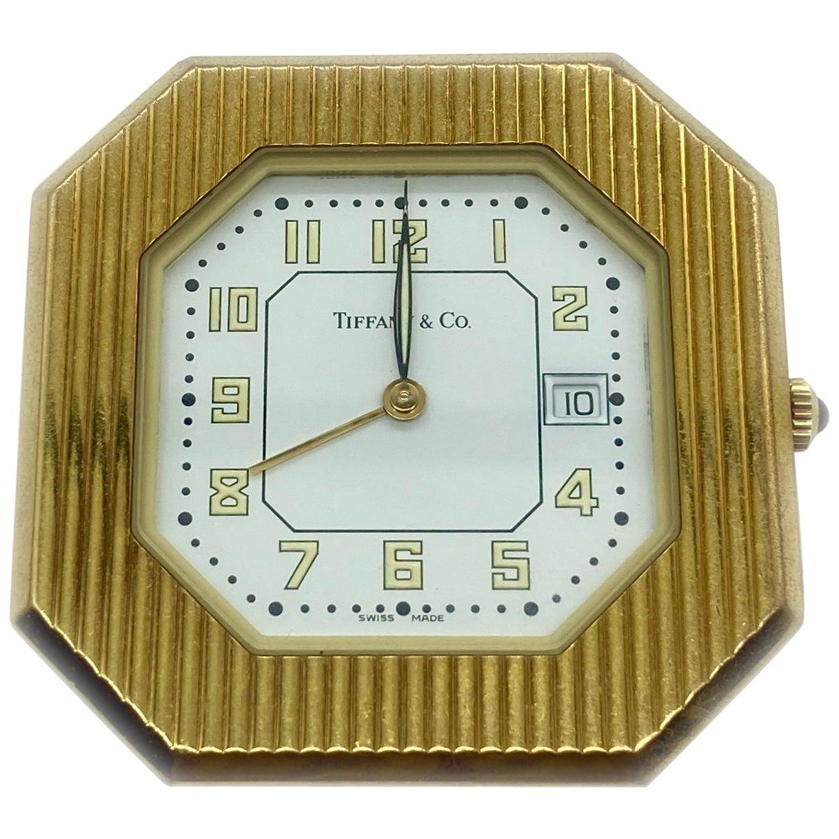 Tiffany & Co. Gold Travel Clock