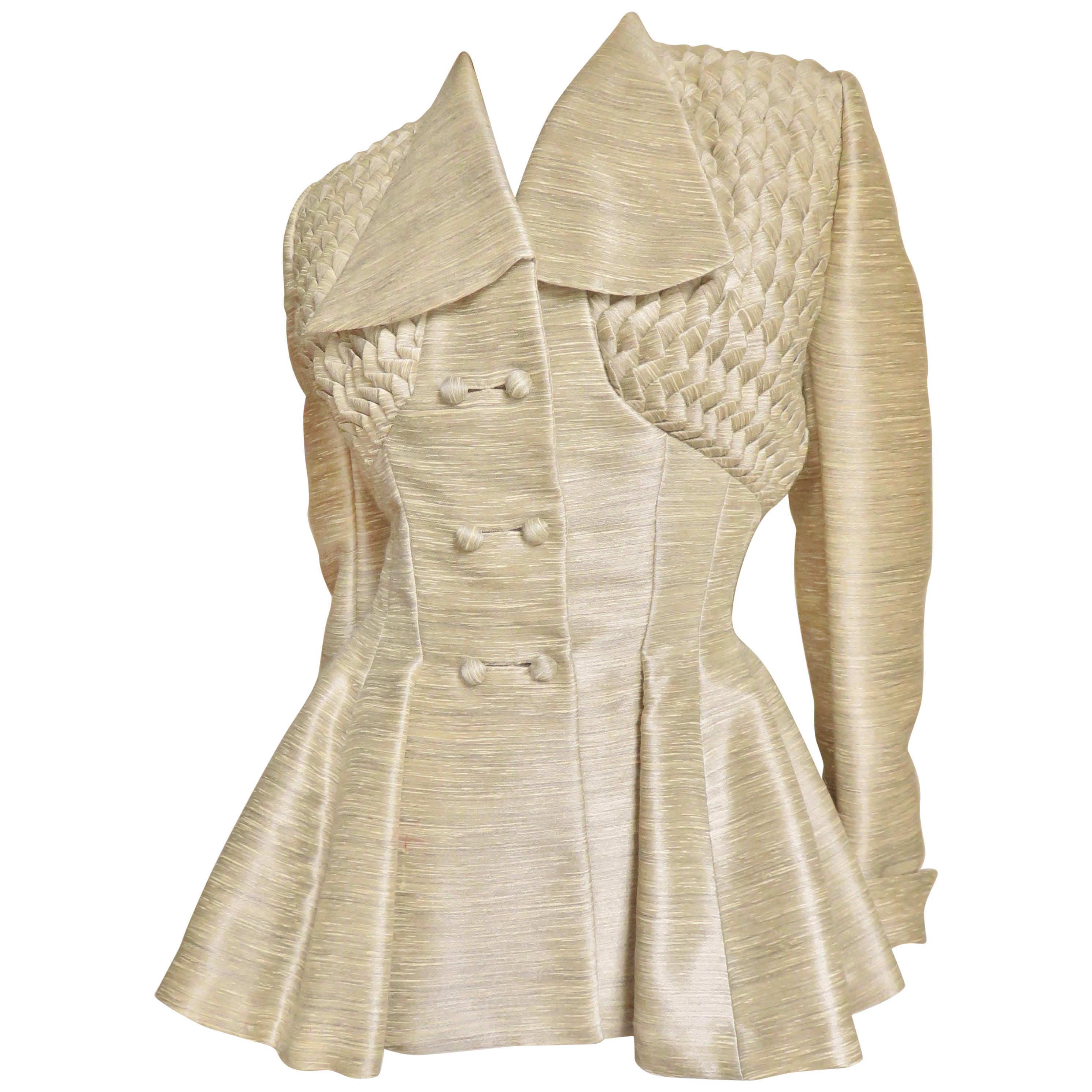 1940s Lilli Ann Silk Jacket with Elaborate Detail