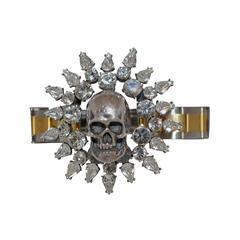 Tom Binns Sterling Silver Skull Bracelet