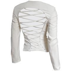 1990s Gianni Versace Laceup Back Jacket