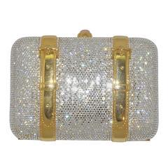 Judith Leiber Crystal Encrusted Minaudière Bag