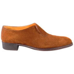 """JOHN LOBB """"ABBEY"""" Size 7.5 Brown Suede Loafers"""