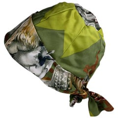 Hermes  Signature  Hunting Print Silk Twill Hat