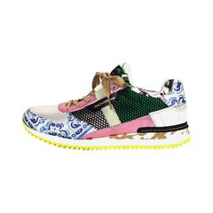 Dolce & Gabbana Multicolor Textile Leather Printed 2015  Mailica Sneakers