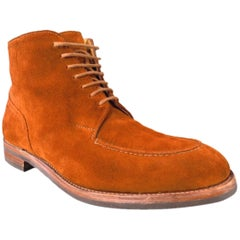 """JOHN LOBB """"CHAMBORD II BOOT"""" Size 7.5 Brown Suede Boots"""