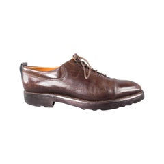 """JOHN LOBB """"RALEIGH"""" Size 8 Brown Leather Lace Up"""