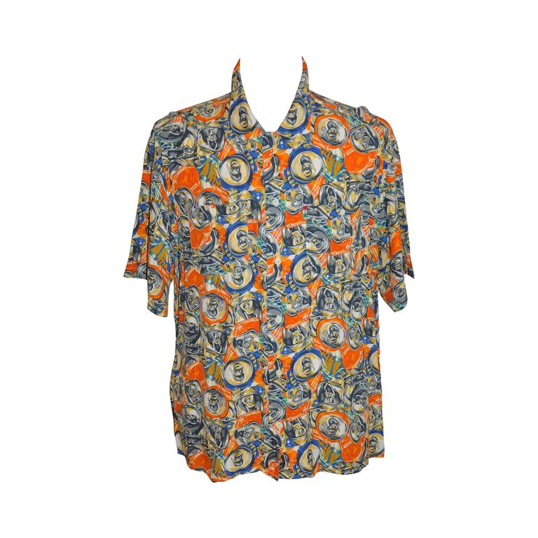 "Moschino Men's Bold ""Soda Cans"" Short-Sleeve Button Shirt"