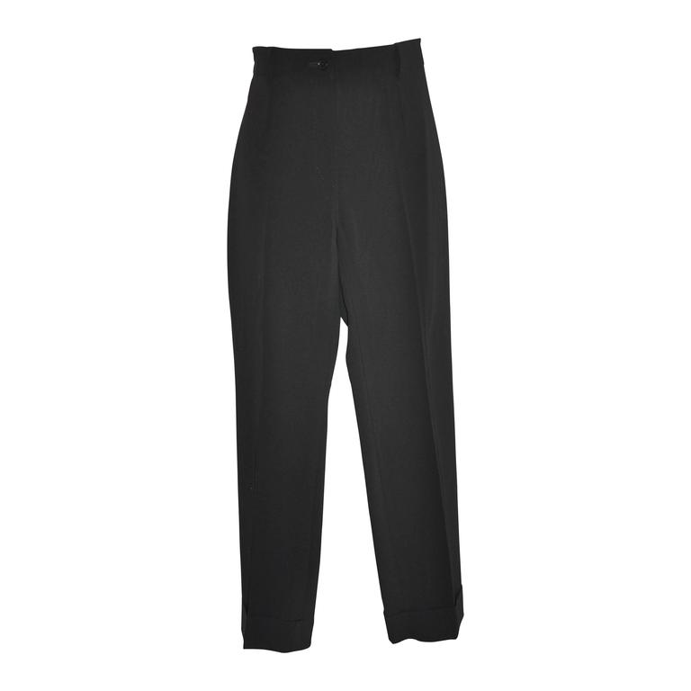 Dolce & Gabbana Black Cuff Trousers 1