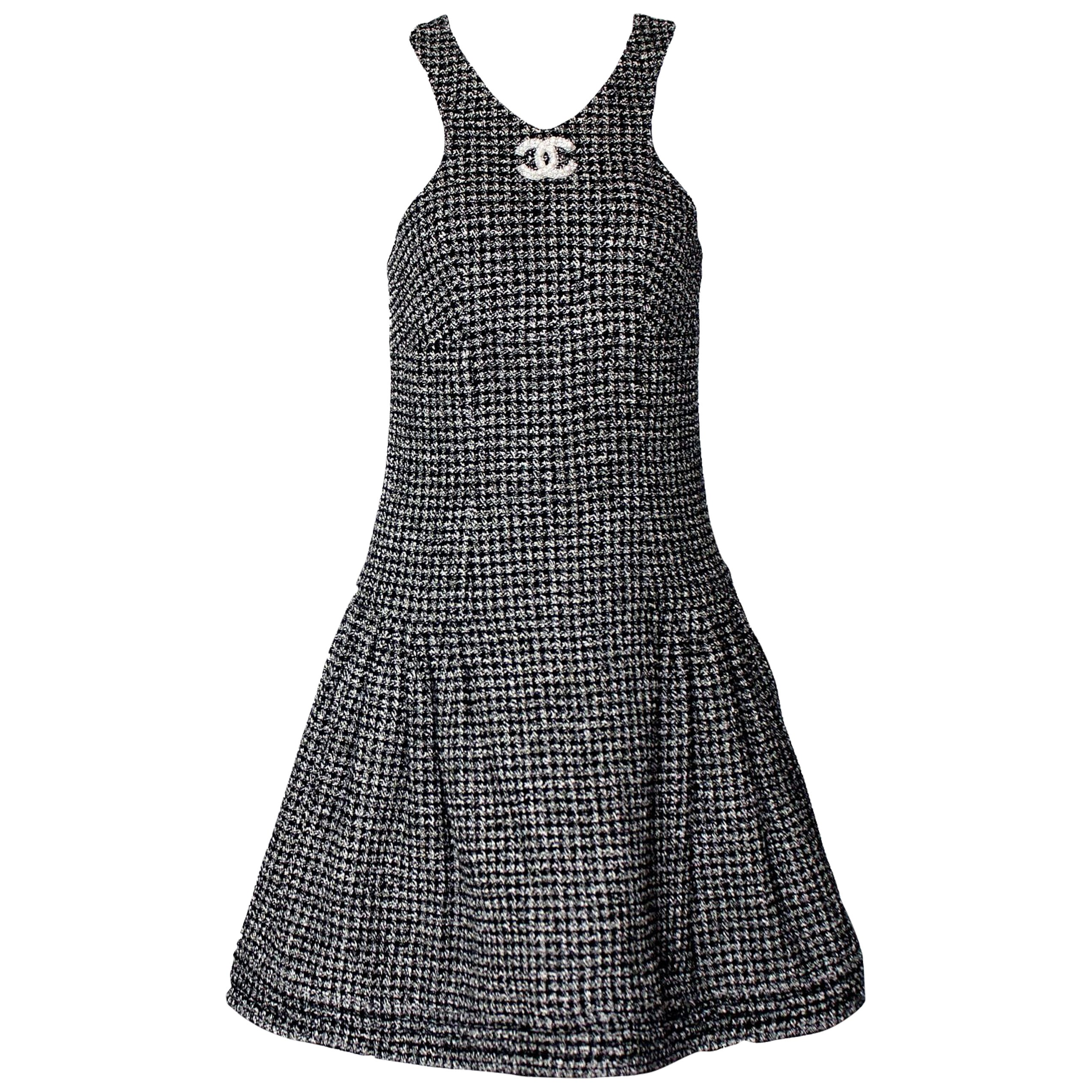 Stunning CHANEL Braided Tweed Dress