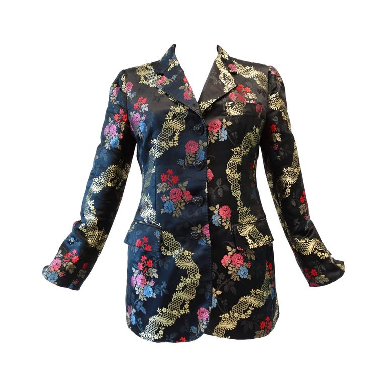1990s Moschino Couture Silk Evening Jacket  1