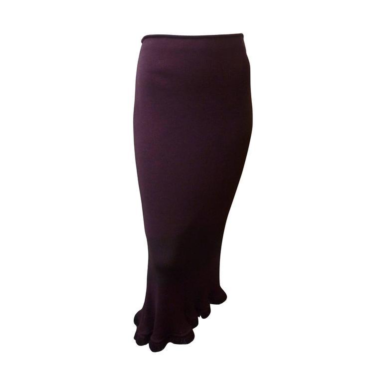 John Galliano Long Knit Skirt, 1990s