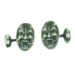 Victorian Sterling Figural Cuff Links