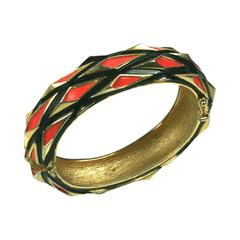 Modernist Trifari Enamel Bangle
