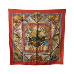 Authentic Hermes Au Son Du Tam Tam Silk Scarf C1993