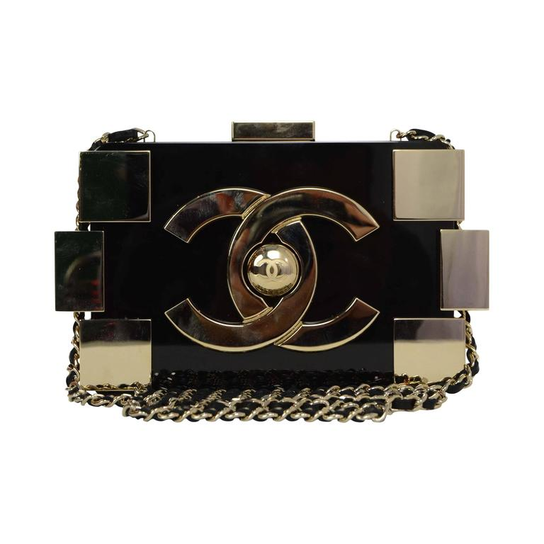 Chanel Black & Gold Collectors Lego Boy Bag GHW 1