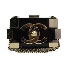 Chanel Black & Gold Collectors Lego Boy Bag GHW