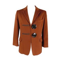 Vintage MOSCHINO COUTURE! 40 Brown Oversized Button Sport Coat Jacket