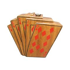 Timmy Woods Beverly Hills Unique Playing Card Handbag c 1990's