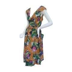 Vintage French Peasant Dress by Prestige de Chafflet c 1980s