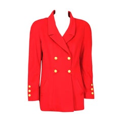 Chanel Red Cashmere Jacket
