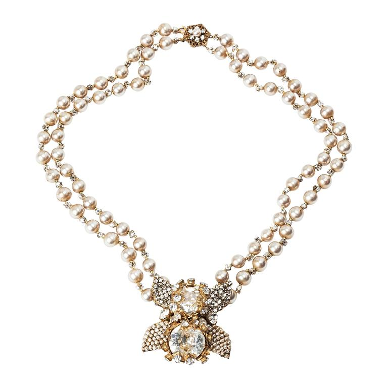 Miriam haskell double strand elaborate pearl necklace for sale at miriam haskell double strand elaborate pearl necklace for sale aloadofball Image collections