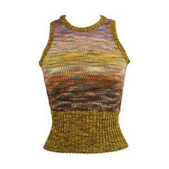 """1070's Yves Saint Laurent """"Poor Boy"""" Sweater"""