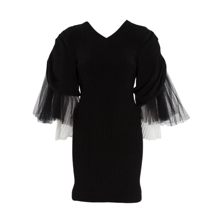 Chanel Runway Knit & Tulle Mini Dress, Spring-Summer 2009 For Sale