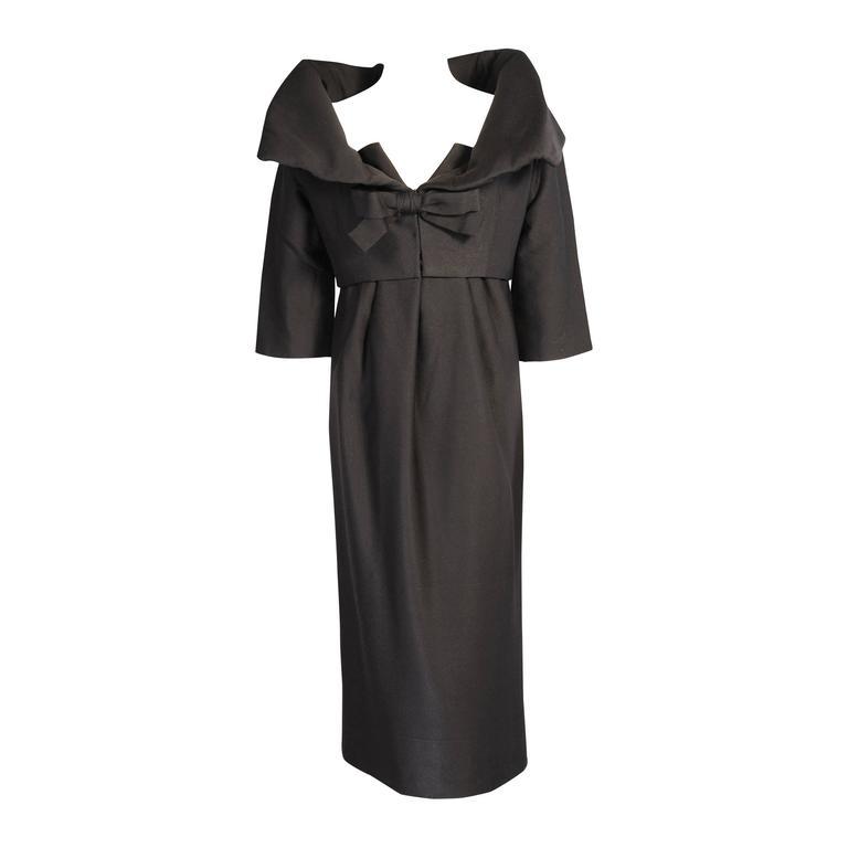 1958 Autumn Winter Yves Saint Laurent for Dior Couture Evening Dress & Jacket