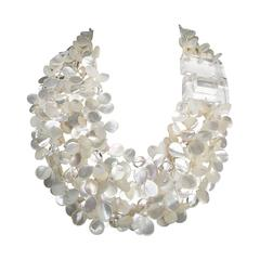 Patricia Von Musulin Mother of Pearl and Lucite Necklace