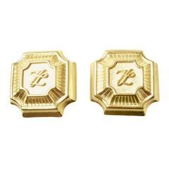 Vintage Karl Lagerfeld Logo Earrings