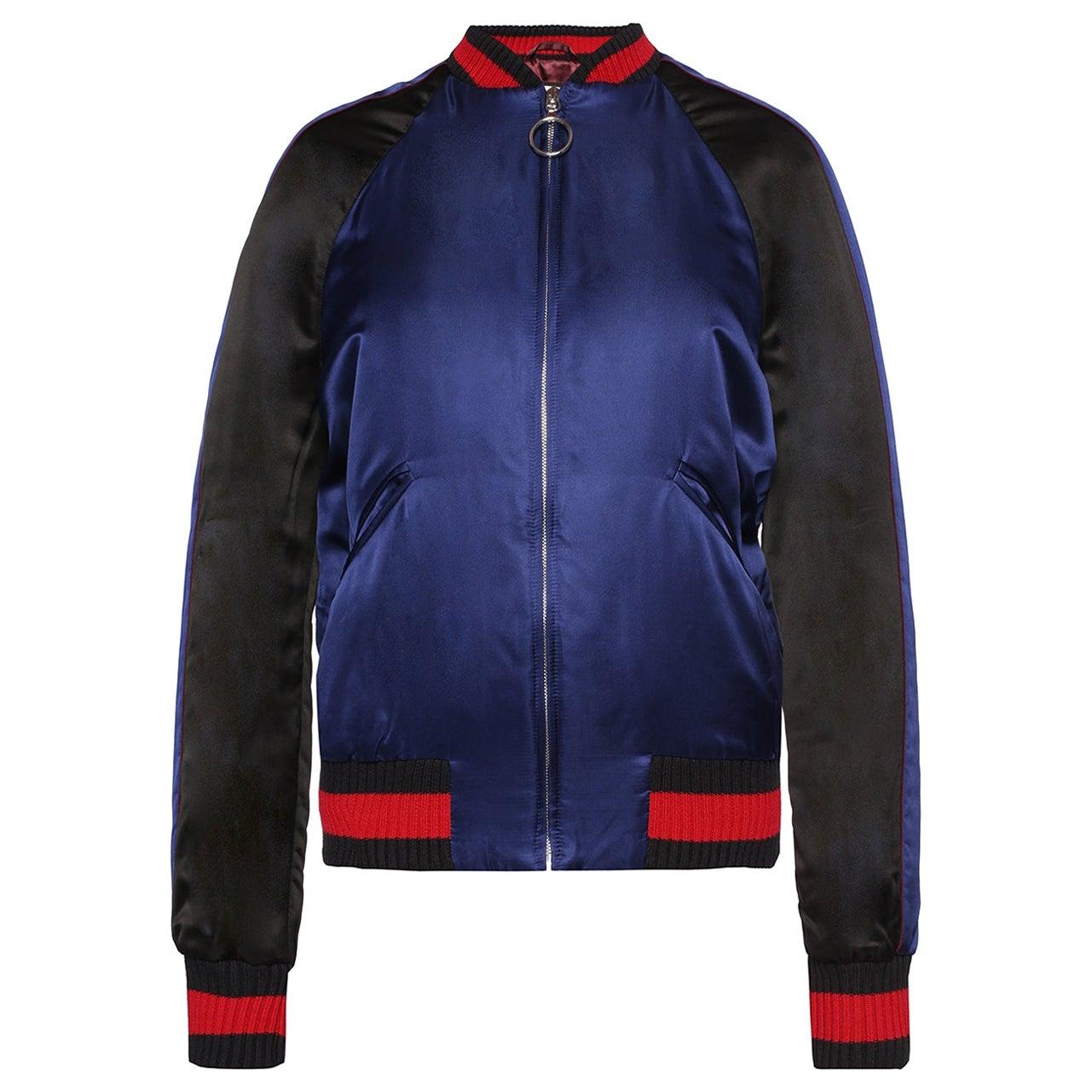 Gucci Embellished Silk-Satin Bomber Jacket