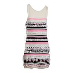 Chanel Cashmere Pink and Black Sleeveless Dress