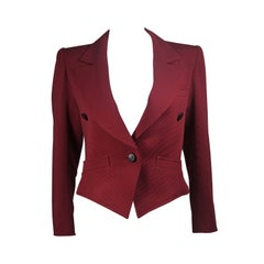 Yves Saint Laurent Rive Gauche Burgundy Jacket Size Small Medium