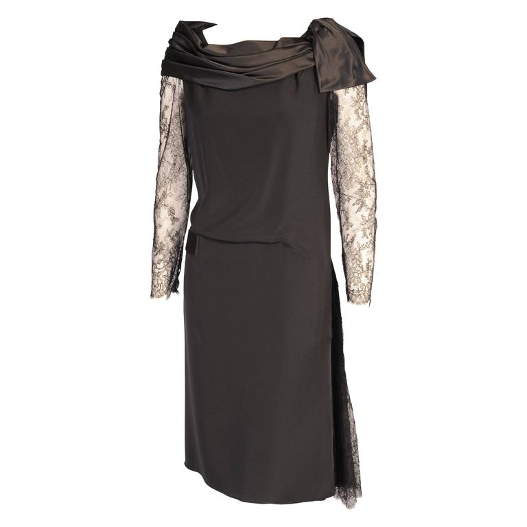 Christian Lacroix Haute Couture Sheath with Optional Tattoo Lace Sleeves 1