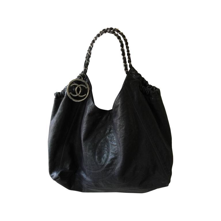 black chanel coco cabas tote bag at 1stdibs