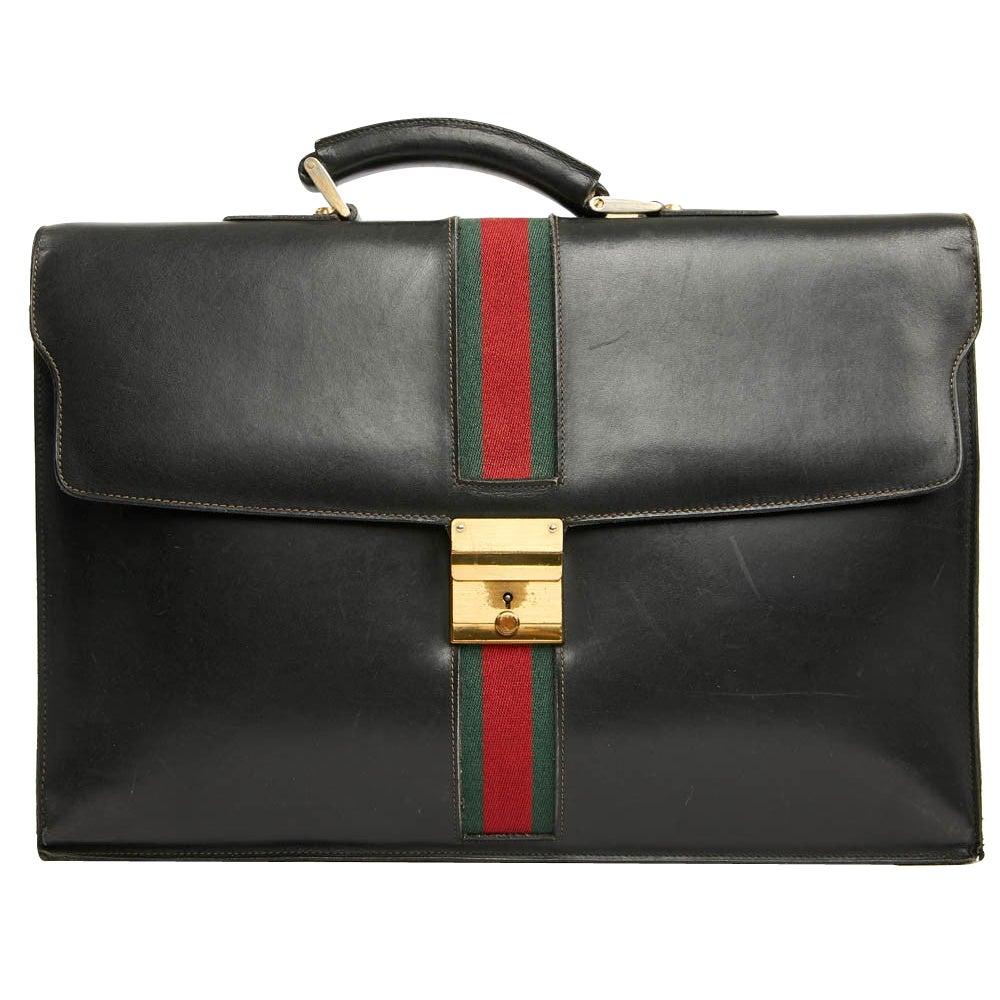 Vintage Gucci Black School Bag