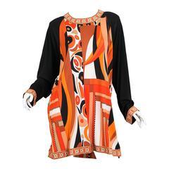 1960s style Averardo Bessi Silk Jersey Tunic Dress