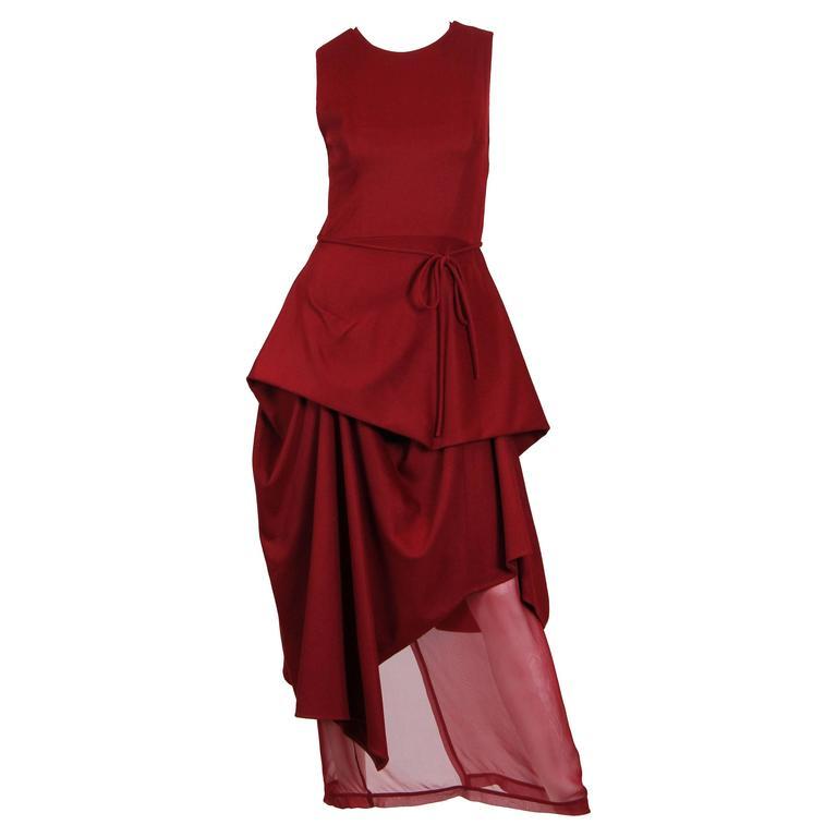 Morgane Le Fay Asymetrical Draped Dress