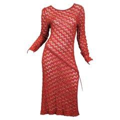 1970s Missoni Silk Knit Dress with Slit