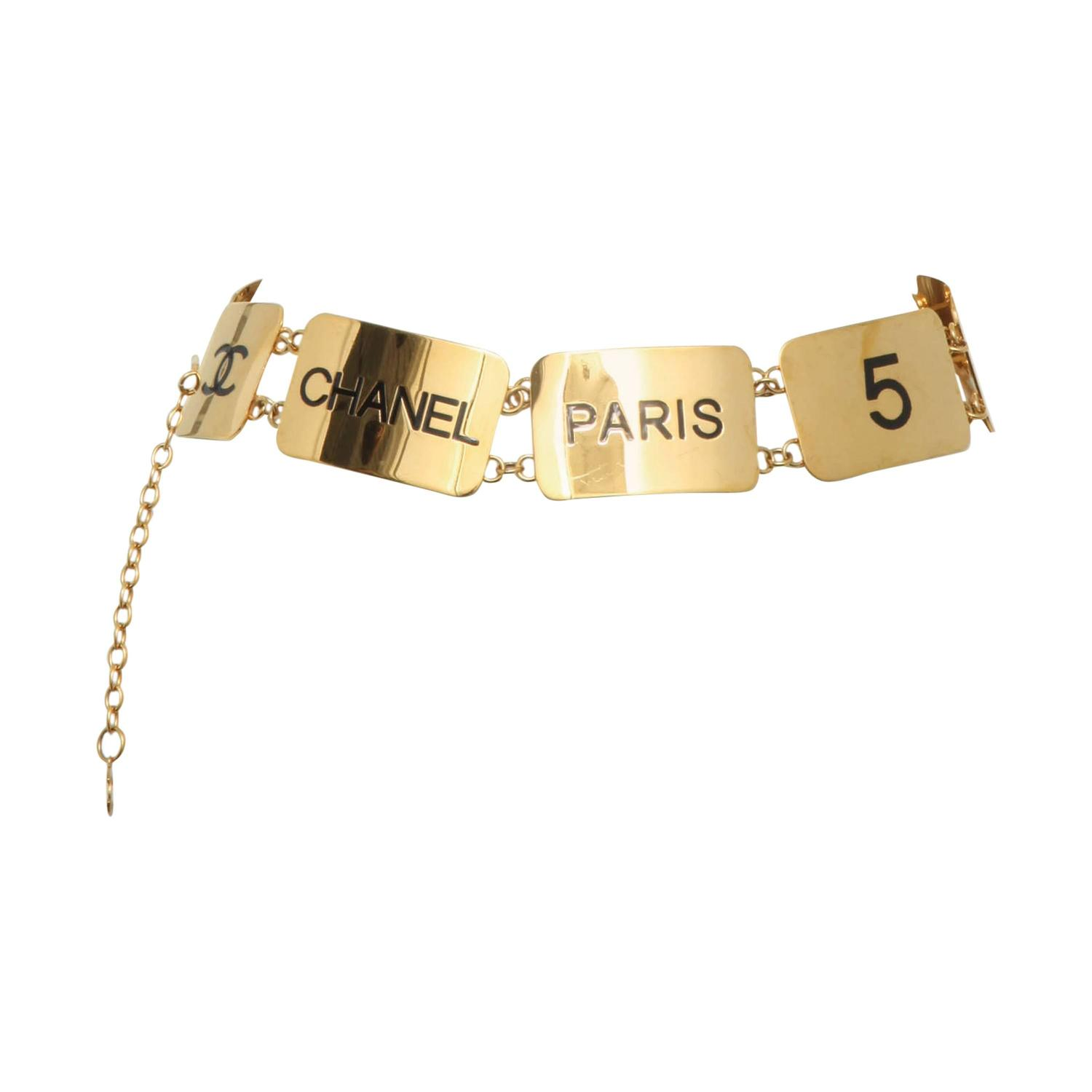 Extremely Rare Vintage Chanel COCO Plate Belt For Sale at ...