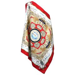 "Hermes Nautical Scarf, ""Railing"""