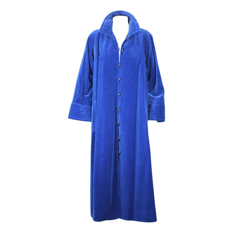 Yves Saint Laurent Rive Gauche Velvet Chinese Coat