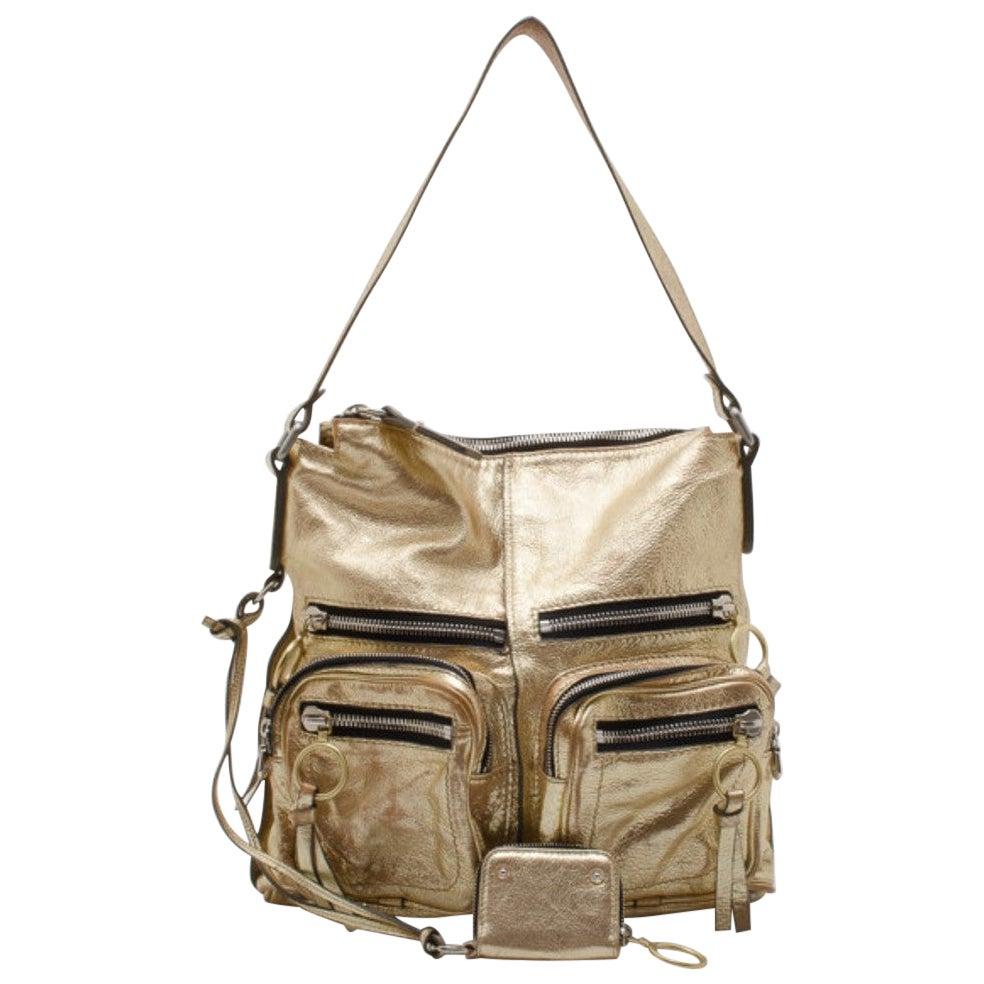 Chloe Metallic Gold Large Shoulder Bag