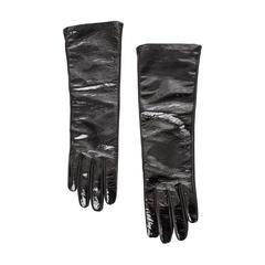 Prada Black Patent Leather Gloves