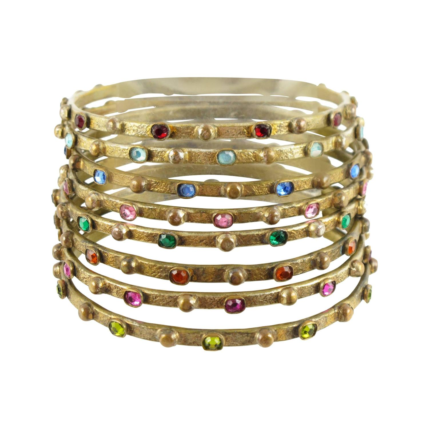 craftsvilla pieces online bangles shop buy golden metal