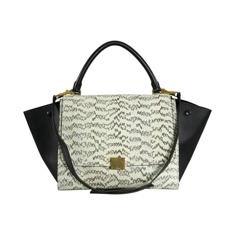 Celine Trapeze Python Small Bag For Sale. Celine trapeze bag in python  snakeskin and black ... 431eb9e649bbc