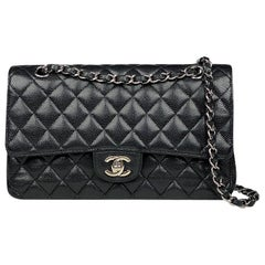 Chanel Classic Caviar Medium Double Flap Bag