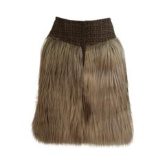 Chanel AW 2010 Faux-Fur Tweed Skirt
