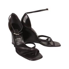Gianni Versace Sexy Wedge Heels with Ankle Strap